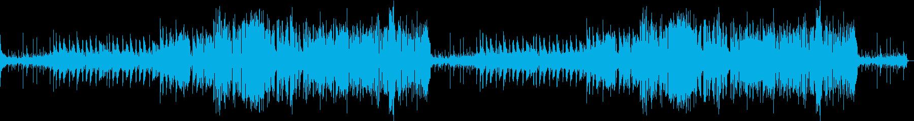 フルートとサックスの軽快なジャズの再生済みの波形