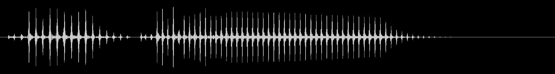 チューバやホルンなど、おならの音の未再生の波形