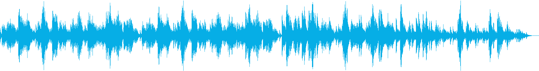 Beautiful slow piano song with beautiful melody's reproduced waveform