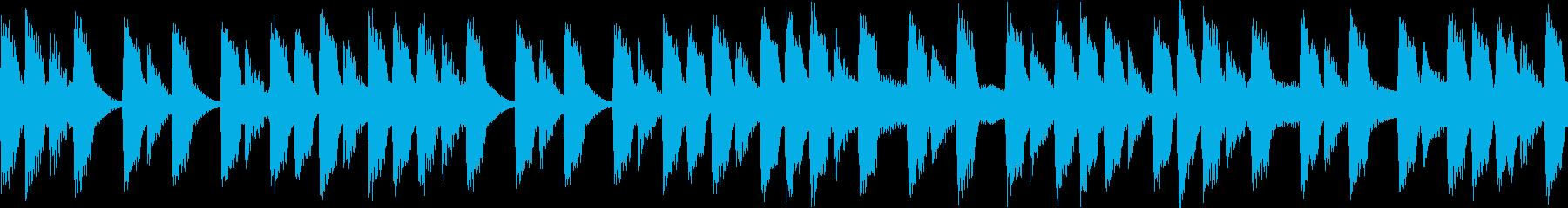 〇ッマン風のファミコンサウンド①の再生済みの波形