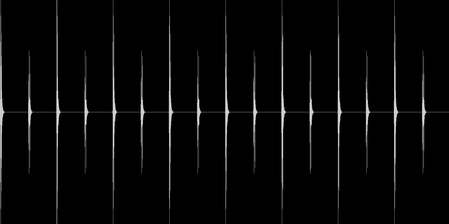 時計の秒針の音の未再生の波形