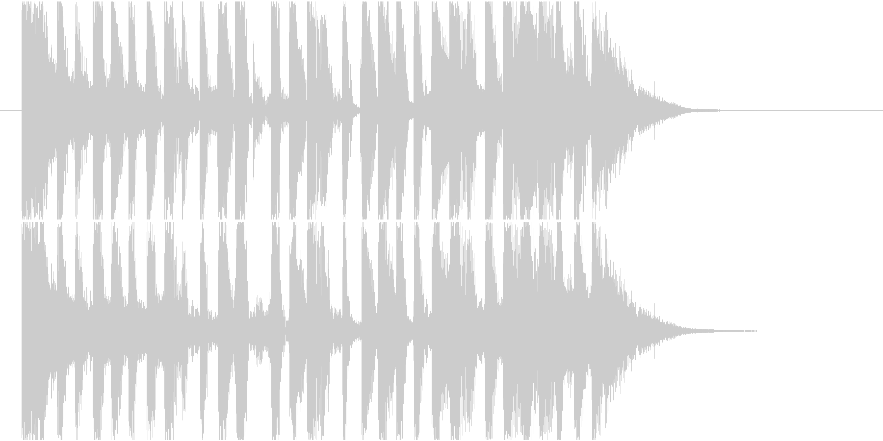 【ジングル】どっしり&ビッグビート調の曲の未再生の波形