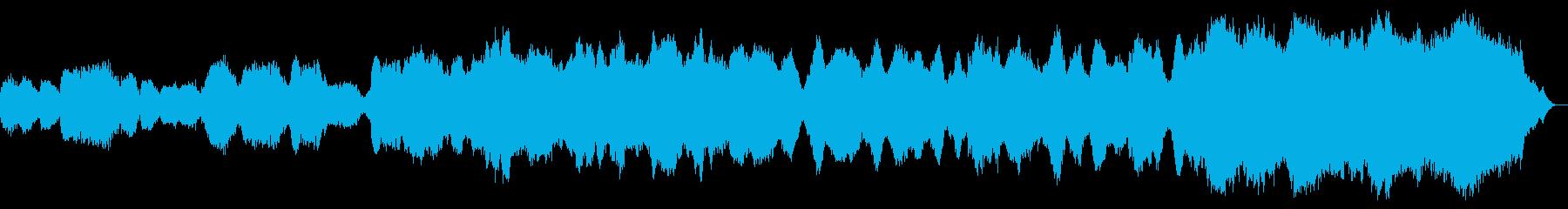 美しく響き渡るソプラノオペラの再生済みの波形