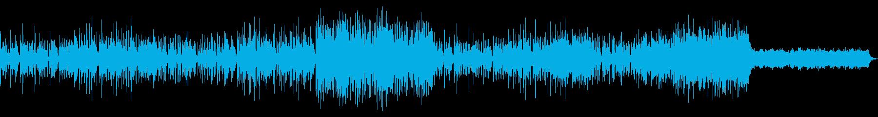 切ない感じのインストの再生済みの波形