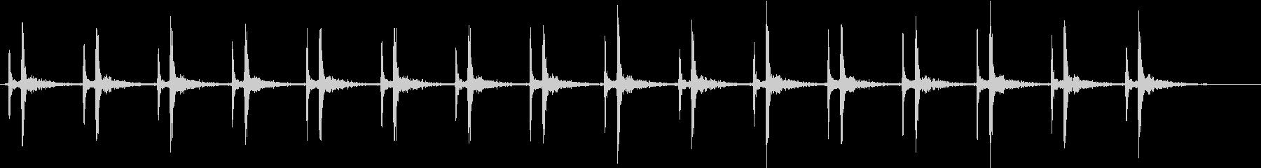 心臓の効果音(少し早め)の未再生の波形