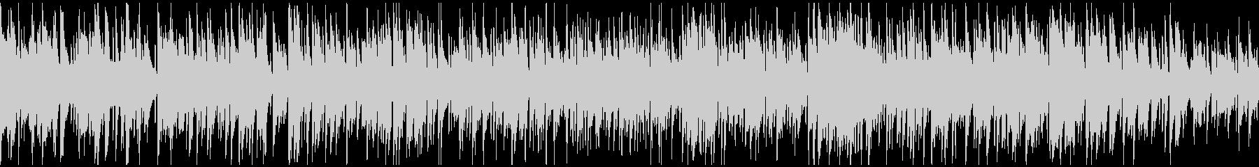 落ち着いた静かなカフェボサノバ※ループ版の未再生の波形
