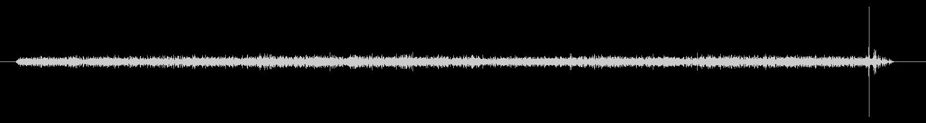 無線静的、クリックオフ、無線および...の未再生の波形