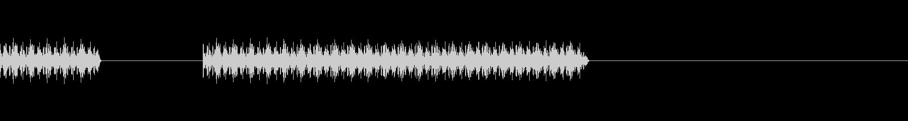 クイズでの不正解を表現するブザー音の未再生の波形