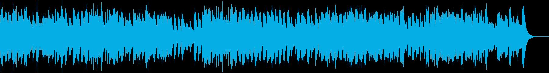 バロック調のハープシコードオリジナル曲の再生済みの波形