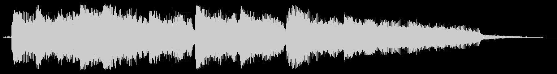 和風メロのピアノ曲の未再生の波形
