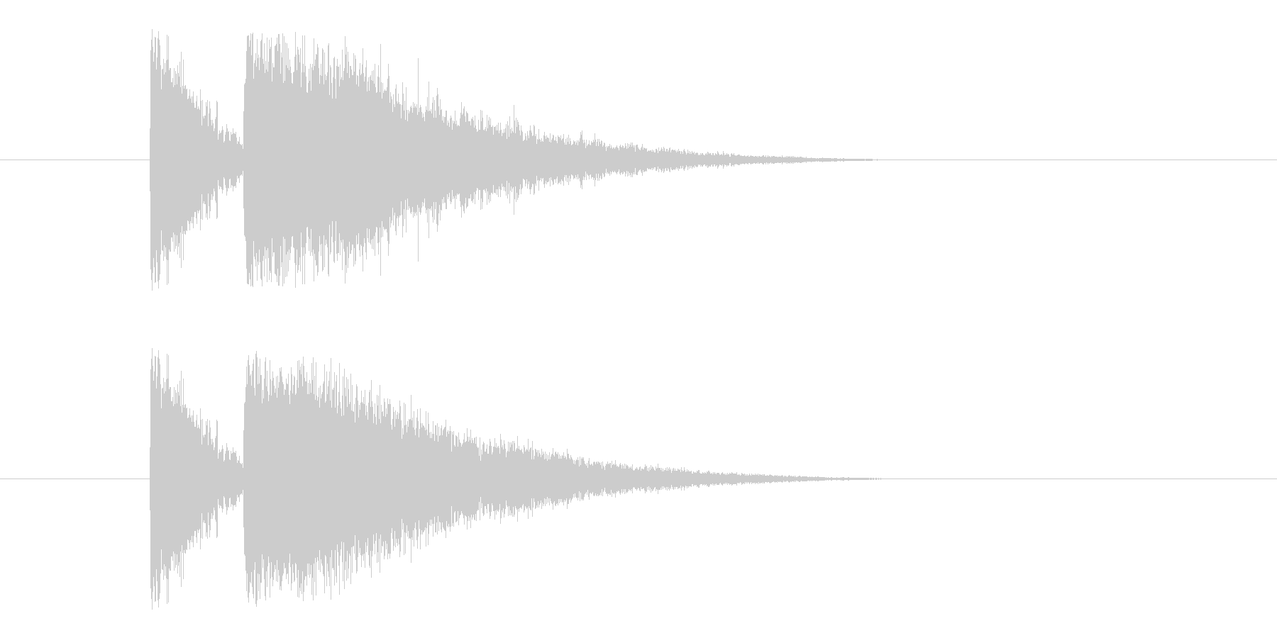 ビームライフル3の未再生の波形