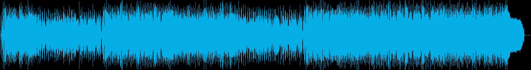 雨のサブウェイの再生済みの波形