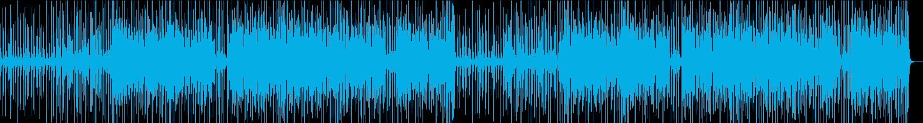 軽快なビートの爽やかなBGMの再生済みの波形