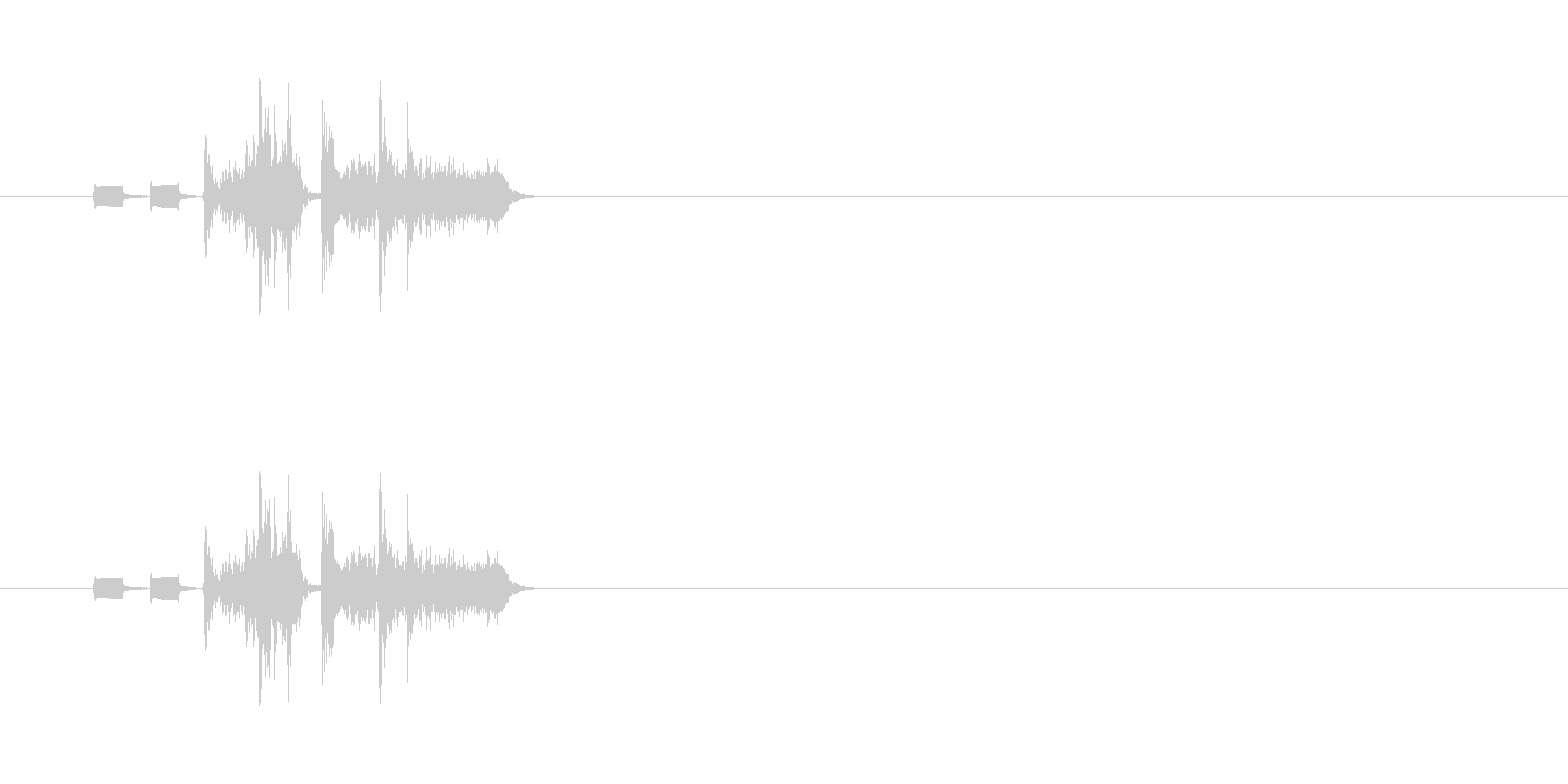 【カメラ シャッター01-5】の未再生の波形