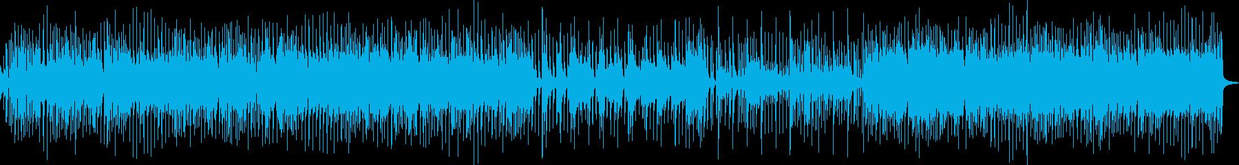 軽快なリズムのギターロックの再生済みの波形