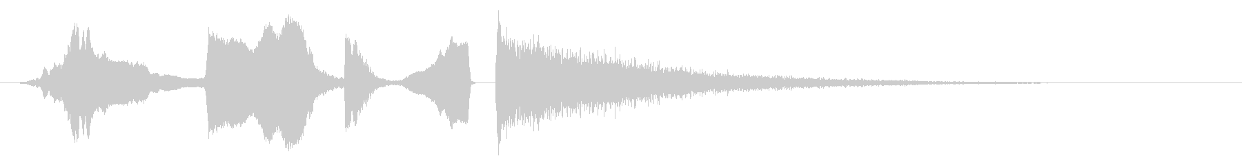 コミカルホイッスルトゥートボンクラッシュの未再生の波形