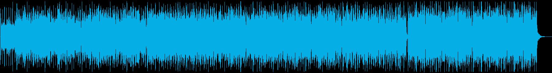 明るくワクワクするようなケルト風BGMの再生済みの波形