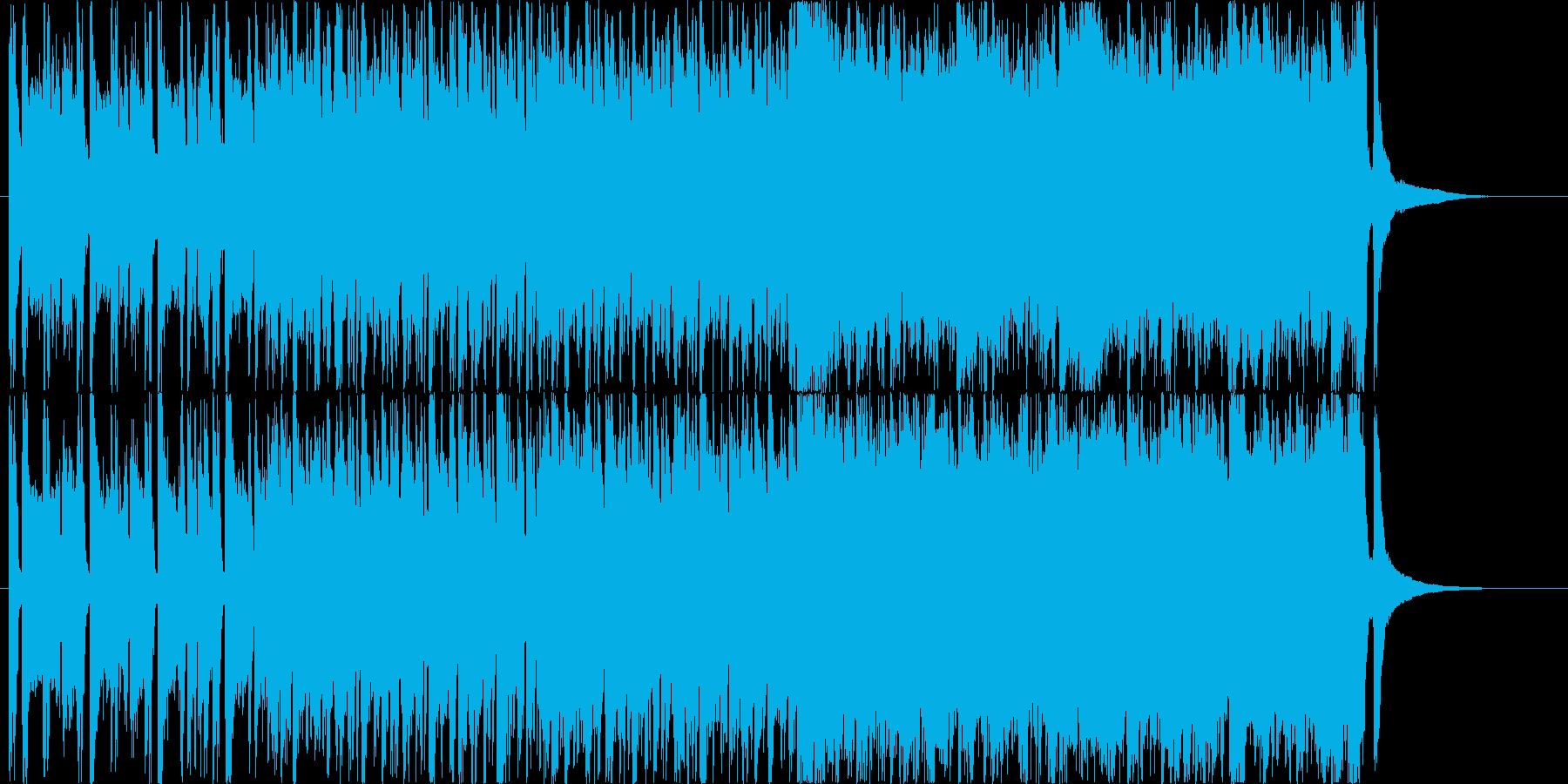 近未来的でポップな曲の再生済みの波形
