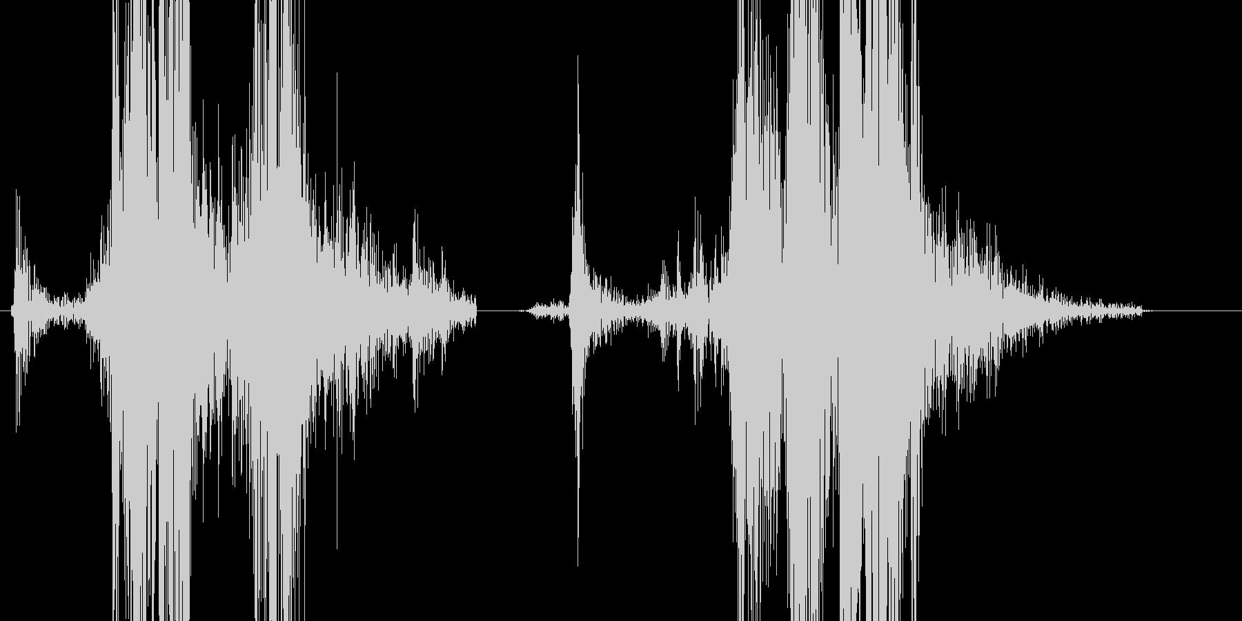 コッキングの未再生の波形