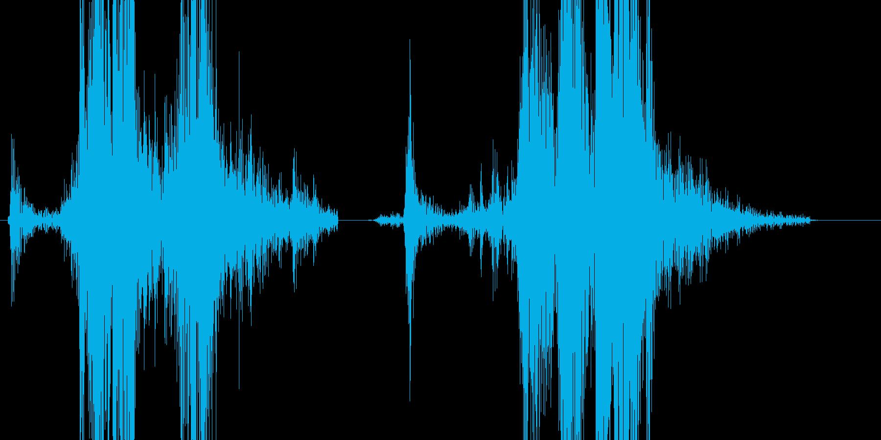 コッキングの再生済みの波形