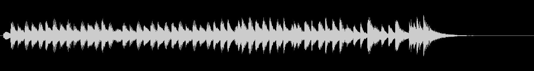 コミカルに走り回る木琴(マリンバ)の未再生の波形