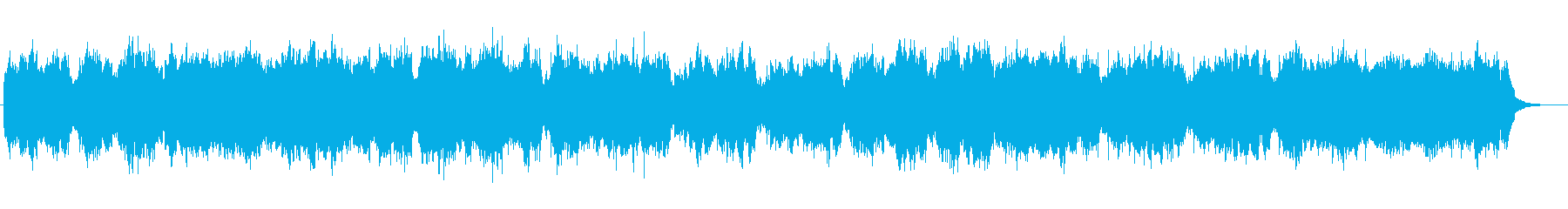 冬の雪を表現したストリングスの曲の再生済みの波形