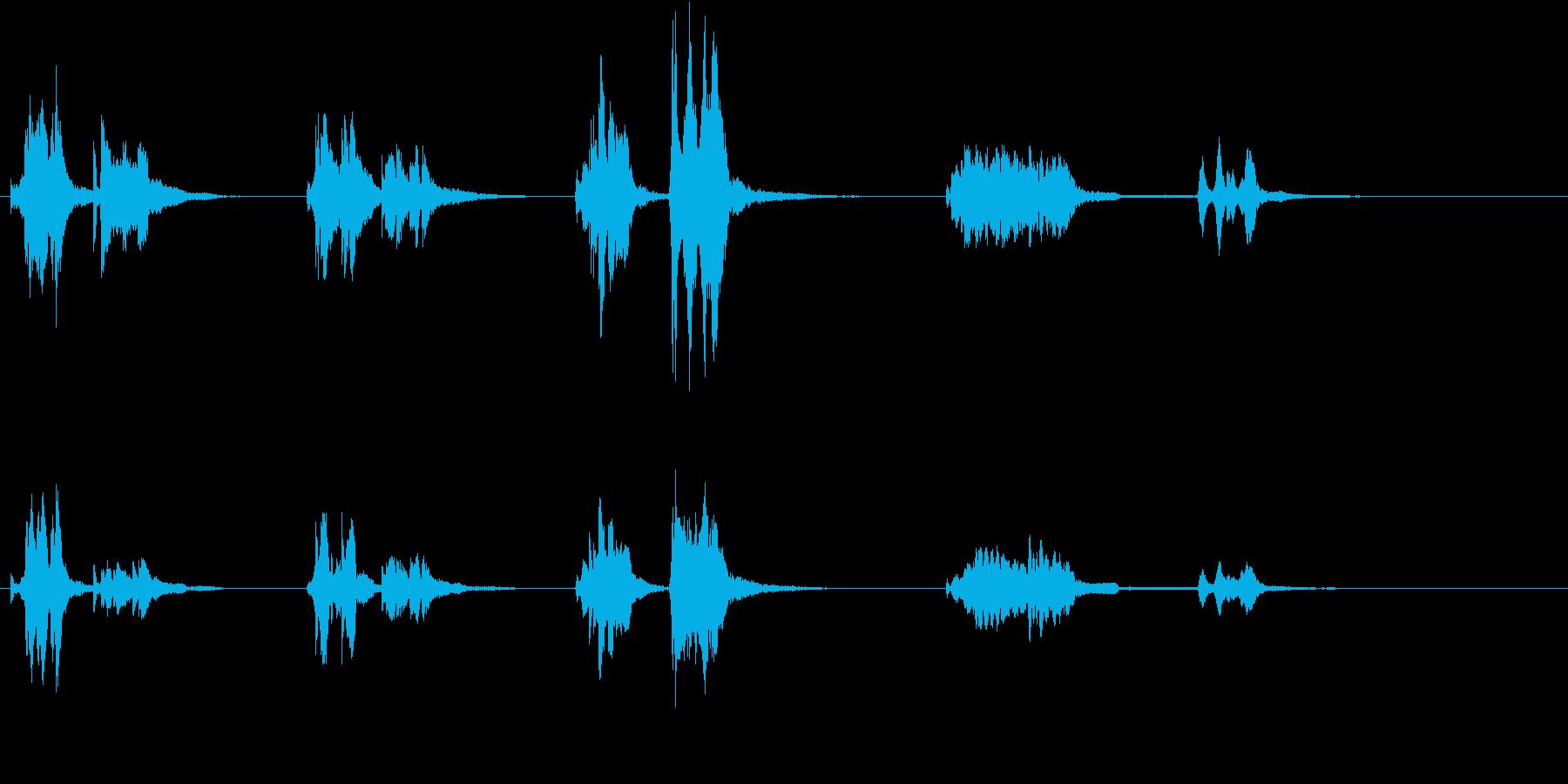 トムとジェリー風アニメ音楽「ウィンク」3の再生済みの波形