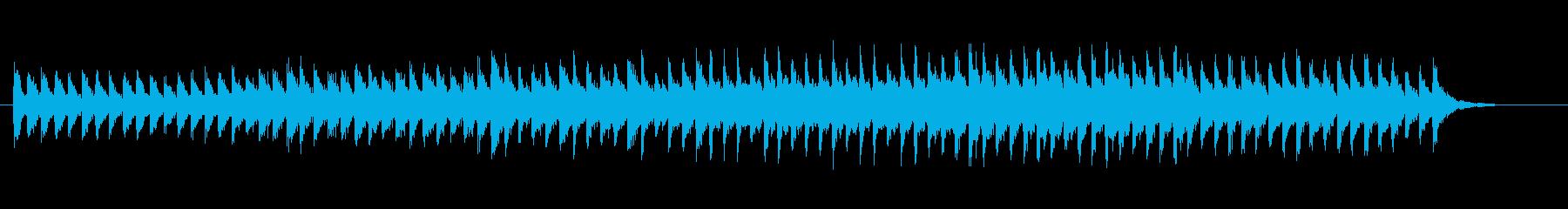 ピアノの音だけで作られた神秘的な環境音楽の再生済みの波形