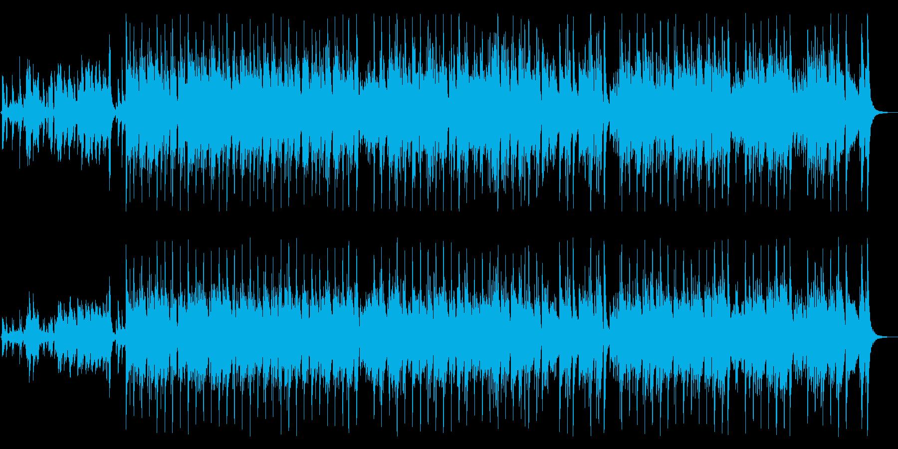 ピアノの軽快なリズムが魅力の曲の再生済みの波形