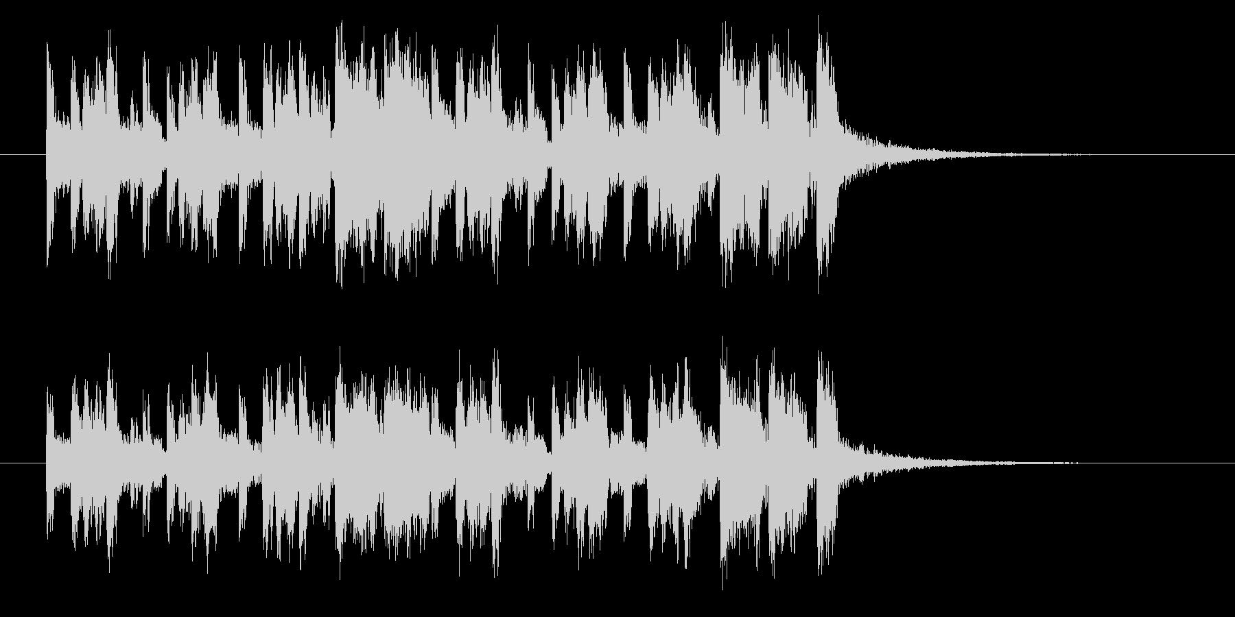 シンセサイザー主体のフュージョンポップスの未再生の波形