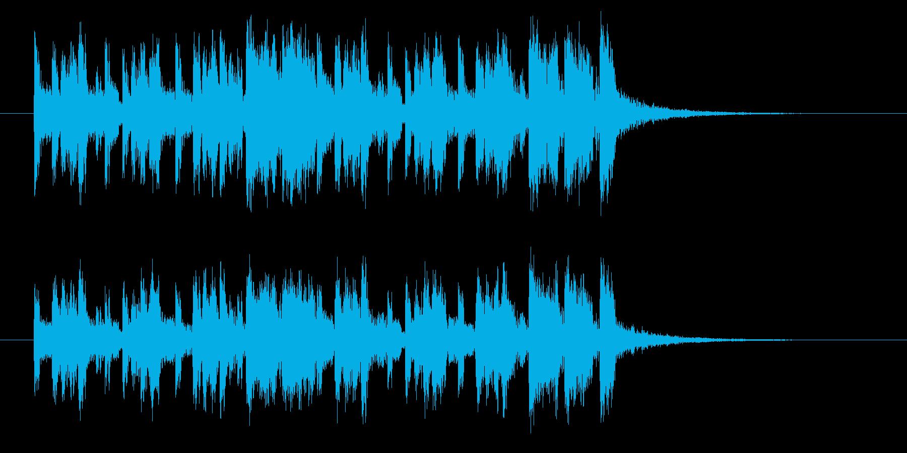 シンセサイザー主体のフュージョンポップスの再生済みの波形