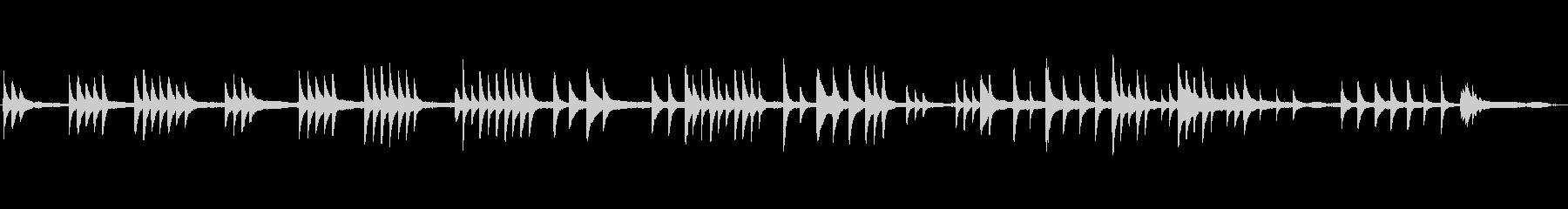 しっとりと切ないピアノのBGMの未再生の波形