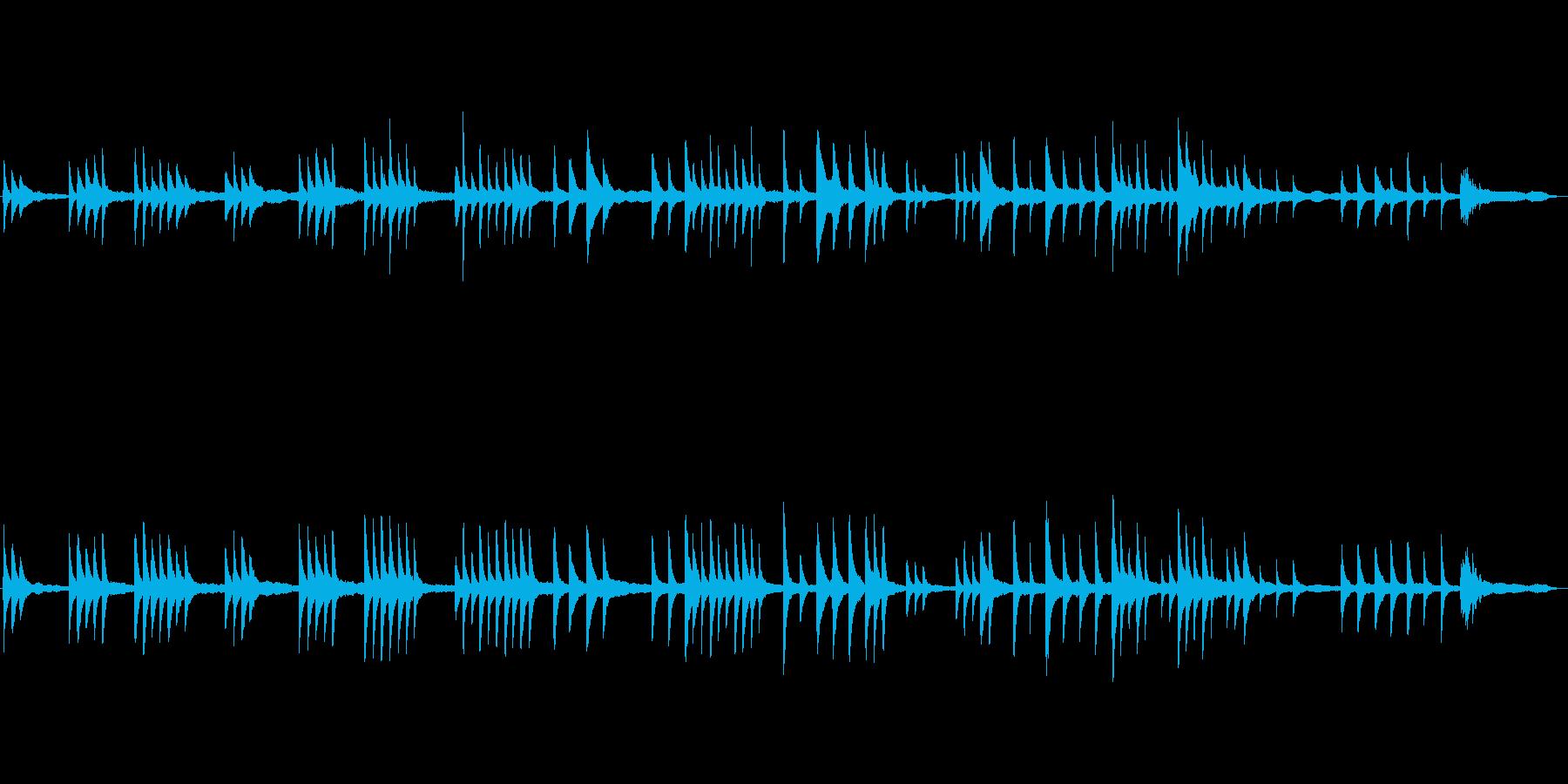しっとりと切ないピアノのBGMの再生済みの波形