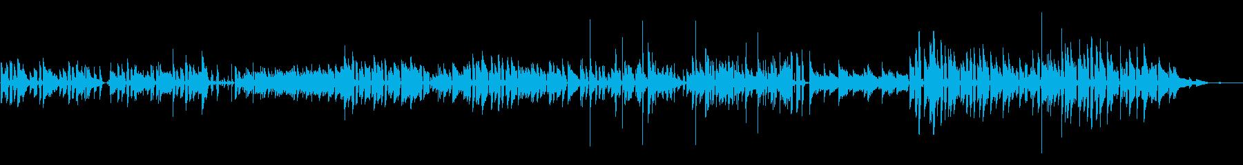ボサノバっぽいアコースティックの再生済みの波形