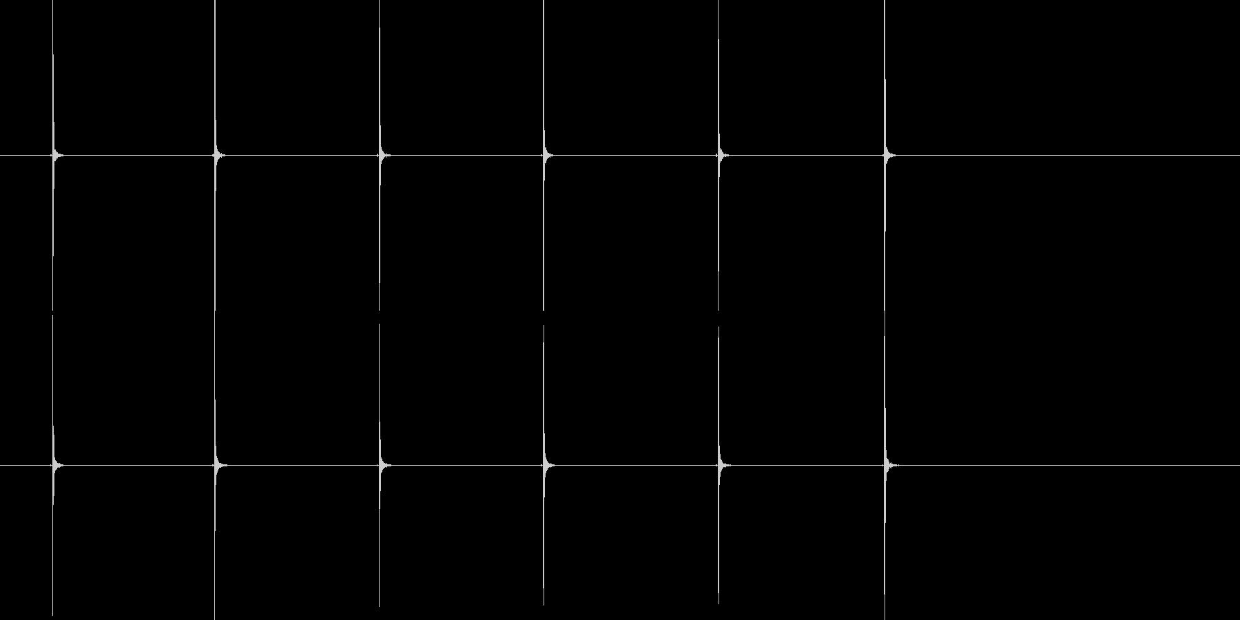 カスタネット生音(スローな連続音)の未再生の波形