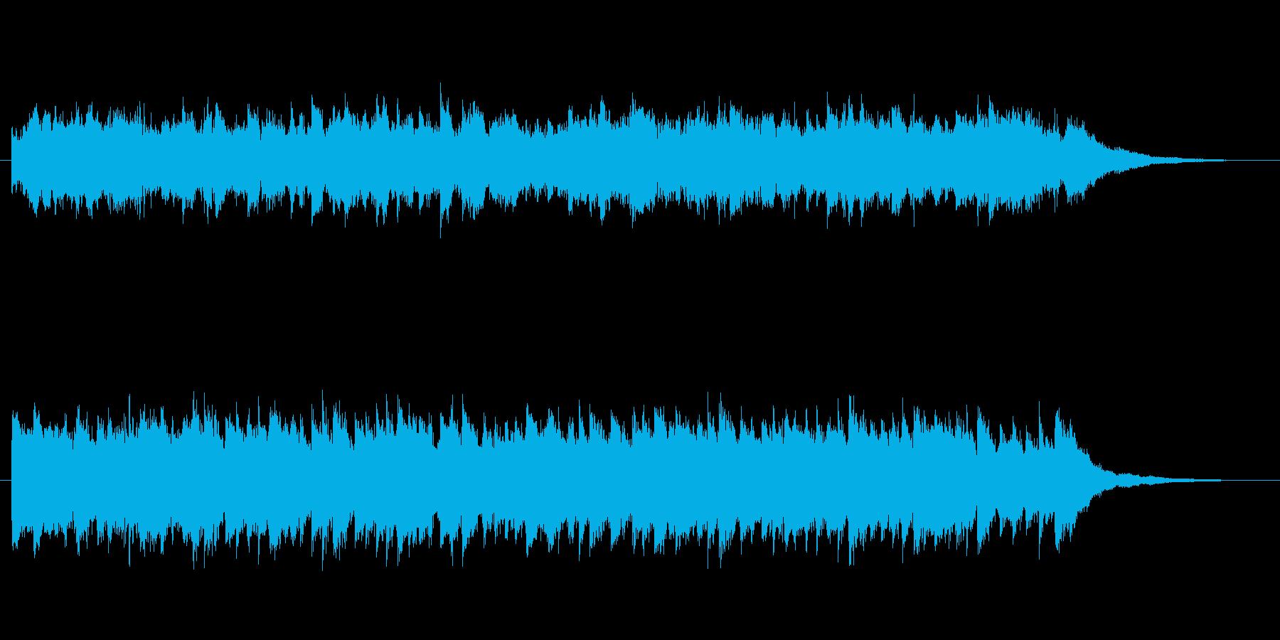 悲しげな雰囲気のピアノジングルの再生済みの波形