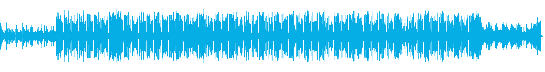 ピアノの旋律が印象的なヒップホップの再生済みの波形