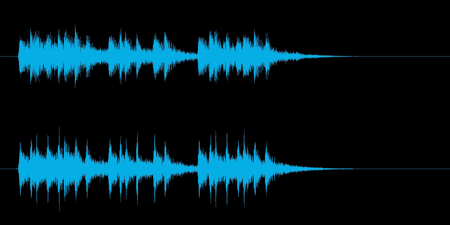 激しくキラキラとしたテクノ音楽の再生済みの波形