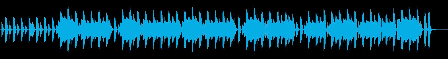 マリンバとフルートのほのぼのしたBGMの再生済みの波形