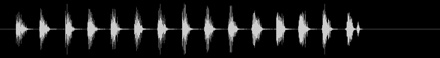 昇順、ショートクリーク(つまり、ジ...の未再生の波形