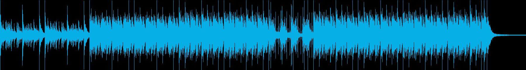 和風で軽快な楽曲の再生済みの波形