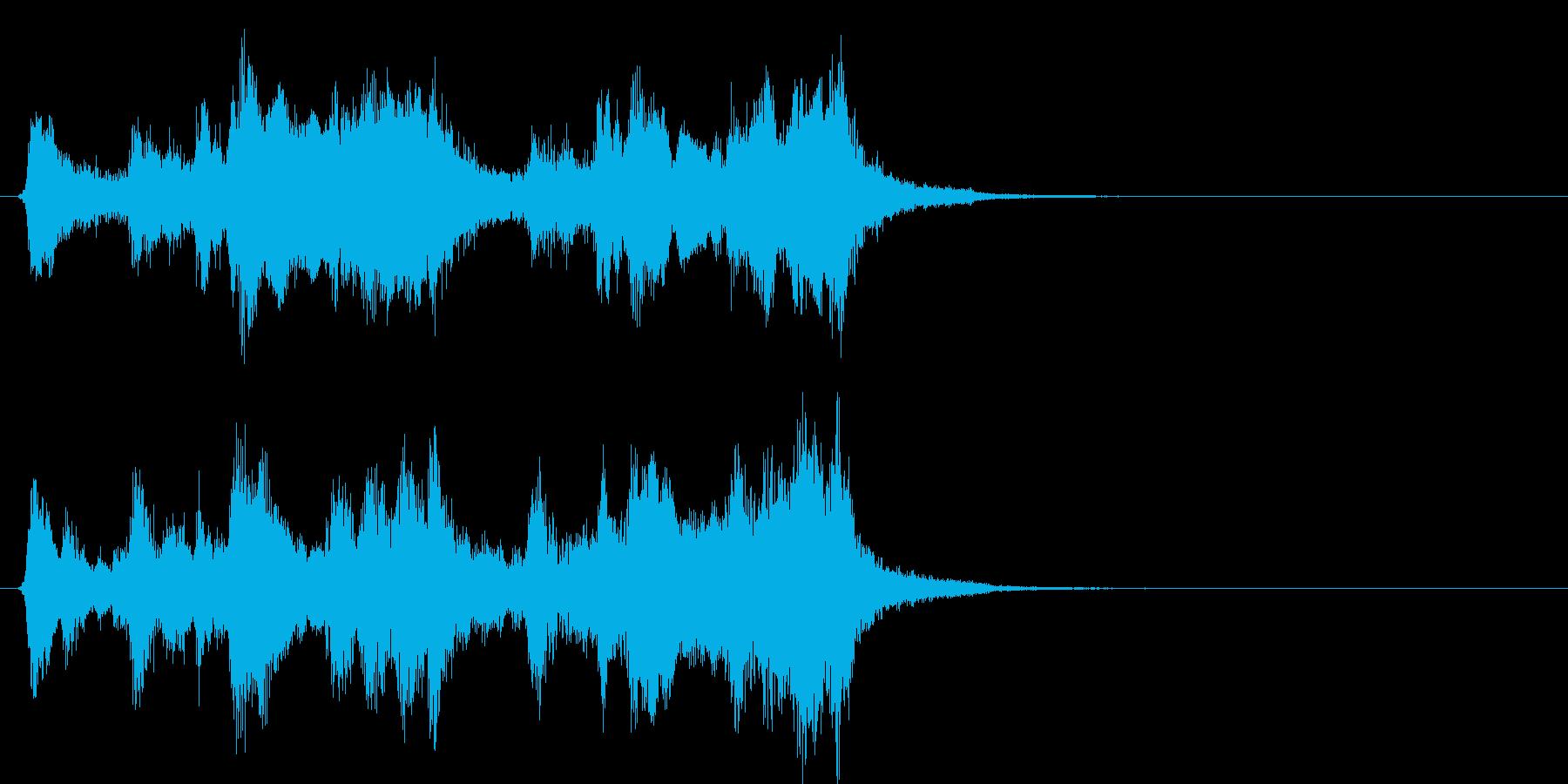 マーヴェルMARVEL系オケのロゴの再生済みの波形