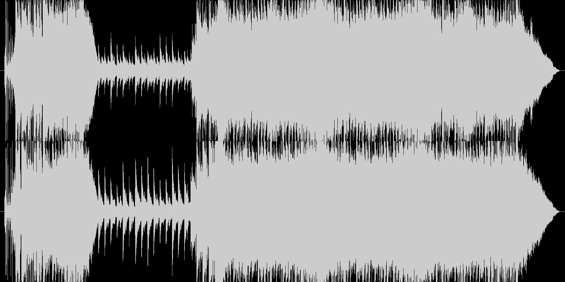 Queen風リフから壮大な感動的バラードの未再生の波形