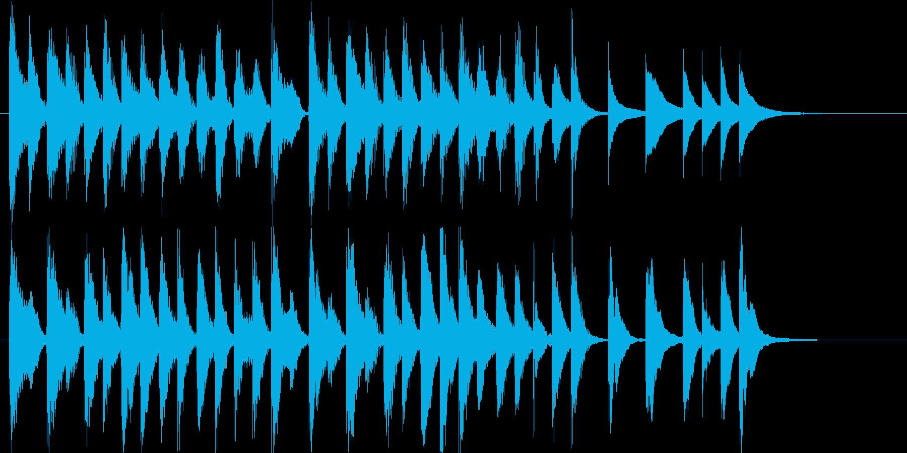 メディアでよく聴くアコースティックロゴの再生済みの波形