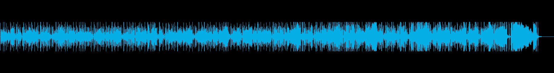 まったりしたBLUES_BGMの再生済みの波形