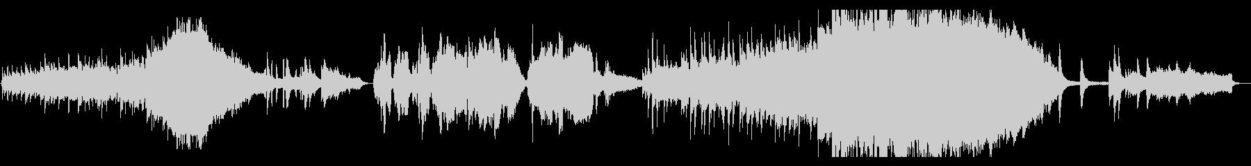 ストリングス、ピアノの感動的な映画音楽の未再生の波形
