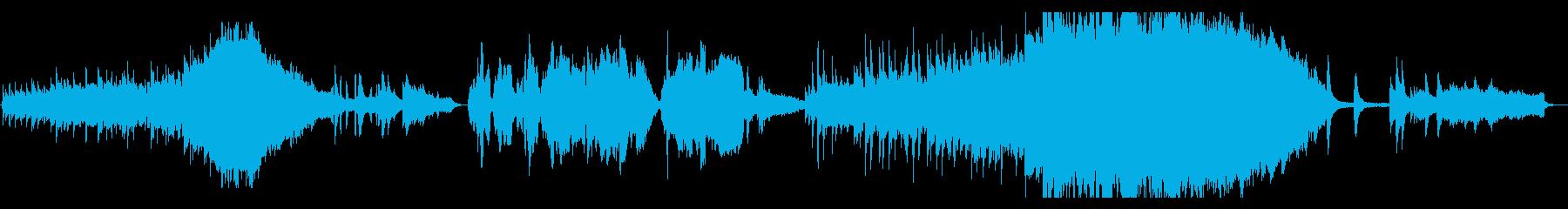 ストリングス、ピアノの感動的な映画音楽の再生済みの波形