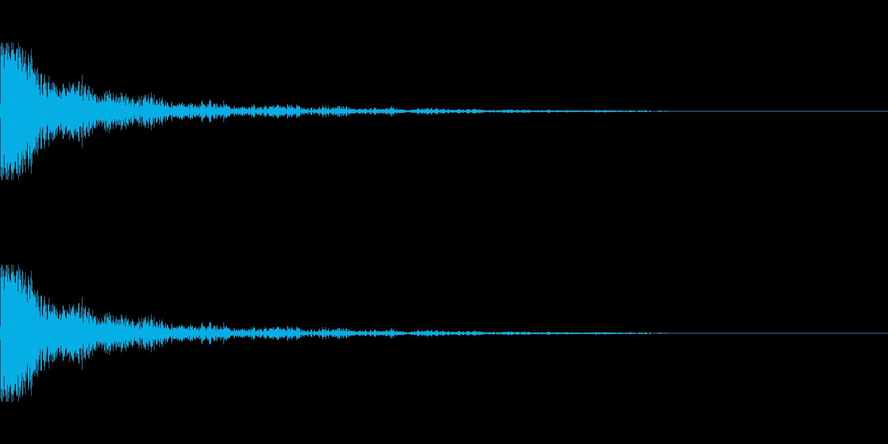 ライフル ショットの再生済みの波形