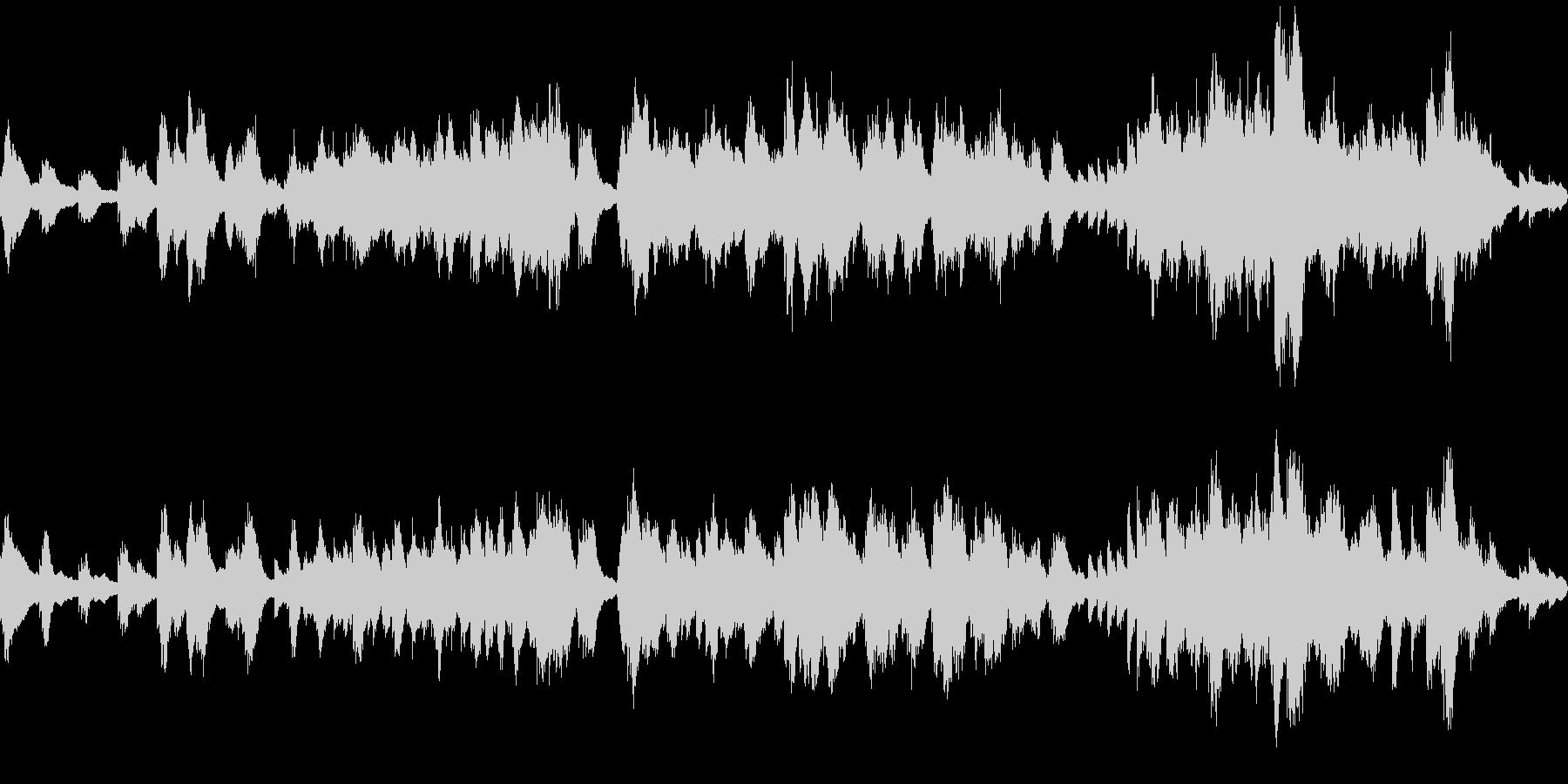 深い森・ダンジョンのBGM風 ピアノソロの未再生の波形