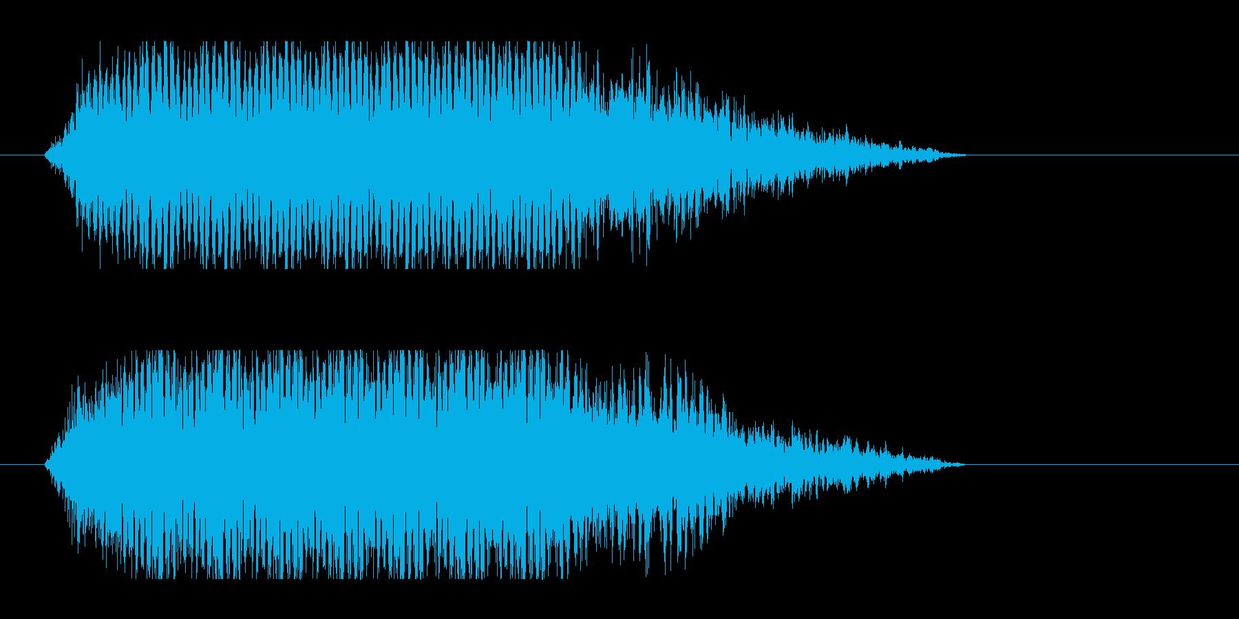 レーザー音-51-3の再生済みの波形